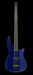 Electric Bass Guitar WAV4 Radius Metallic Cobalt Gloss
