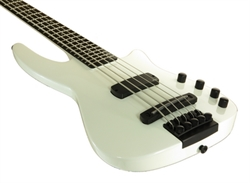 Electric Bass Guitar WAV4 Radius Metallic White Gloss