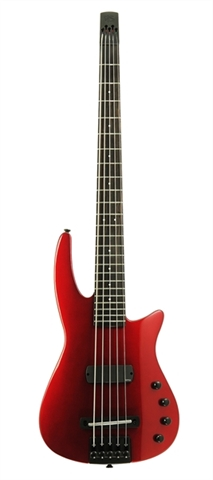 Electric Bass Guitar WAV5 Radius Metallic Crimson Gloss